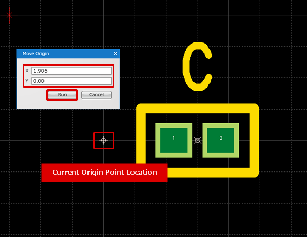 PCB Layout CAD - Move Origin Point