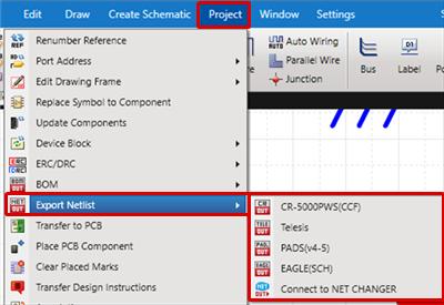 Schematic Capture - Export Netlist